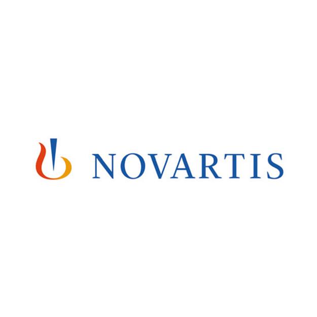 Descrição da imagem: logo da empresa Novartis.