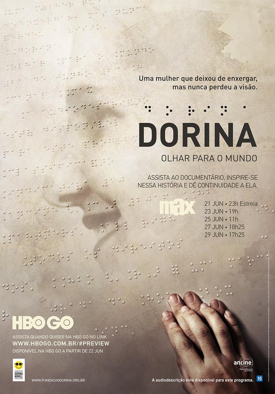Pôster do documentário Dorina Olhar para o mundo.