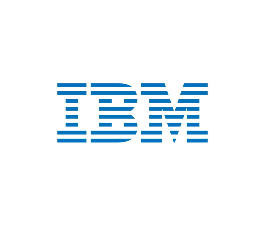 descrição da imagem: logotipo da IBM
