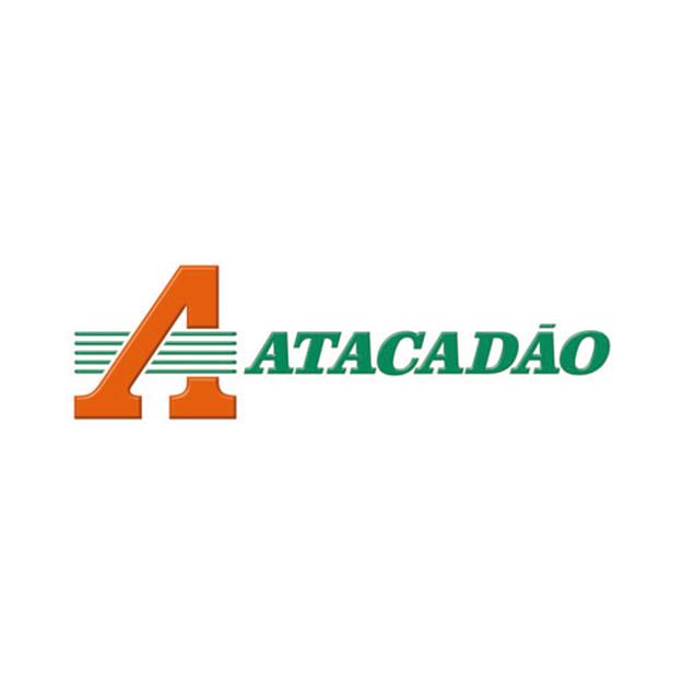 Descrição da imagem: logo da empresa Atacadão.