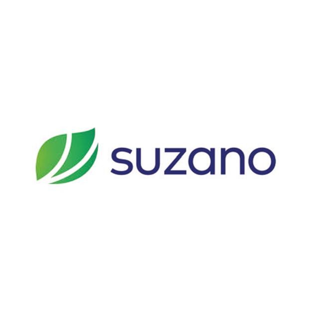 Descrição da imagem: logo da empresa Suzano.