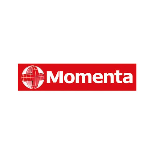 Descrição da imagem: logo da empresa Momenta