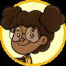 Descrição da imagem: Desenho de uma menina negra de óculos.