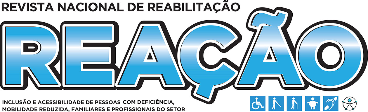 Descricao da imagem: Logotipo da revista reação